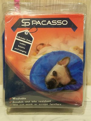 @CHV SP PACASSO INFLATABLE MEDIUM DOG COLLAR 6-10 INCHES NECK CIRCUMFERENCE #52 for Sale in Santa Clarita, CA