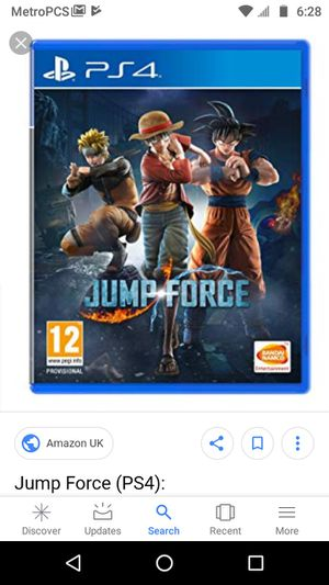 Jump Force PS4 for Sale in Baltimore, MD