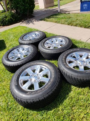 Jeep wrangler Factory Wheels & Tires 255/70/18 with Sensors wrangler unlimited sahara should fit any jeep wrangler Jk Jeep wrangler Jl for Sale in Spring, TX