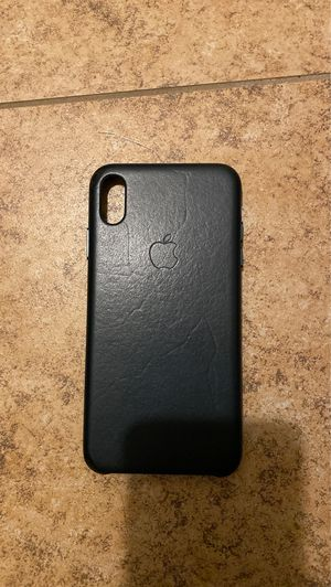 iPhone XS Max Apple leather case green for Sale in Riverside, CA