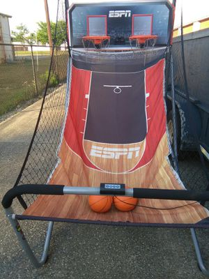 Battery operated digital scoring double basketball hoop for Sale in Douglasville, GA