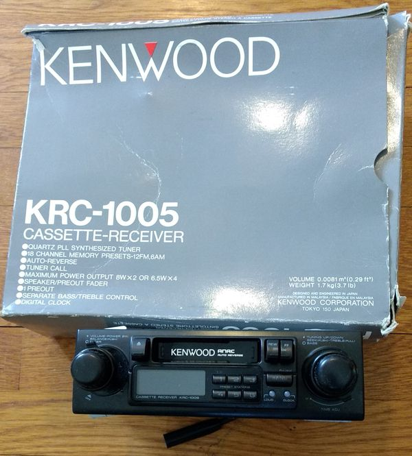 Old School Kenwood Tape Deck And Stereo