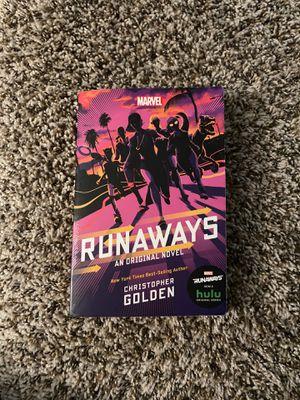 Runaways-an original novel by Christopher Golden for Sale in San Antonio, TX