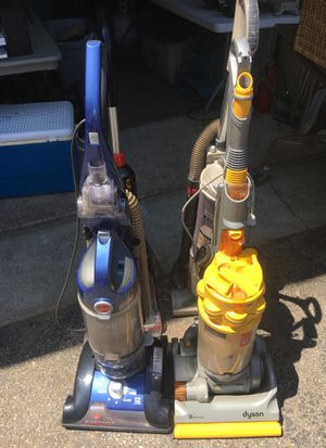 For vacuums for sale shark bissell Dyson and a Hoover All four for $125 where will sell separate for Sale in Springfield, PA