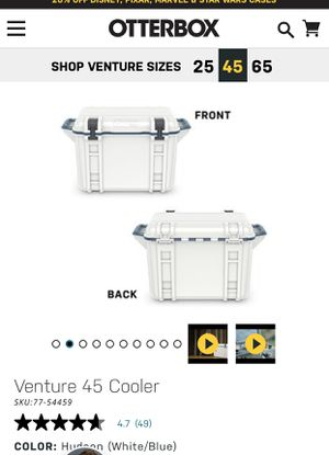 Otterbox venture 45 cooler with many attachments pictured for Sale in Santa Ana, CA