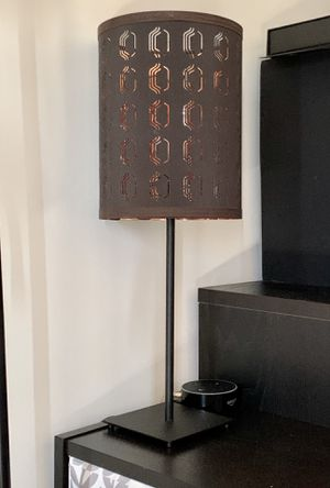 "[2 available] 21"" Tall Black & Copper (Bedside) Lamp w/ ~5x5"" base for Sale in Washington, DC"