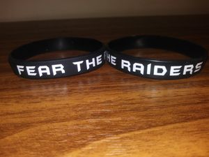Fear The Raiders Wristbands TEAM SPIRIT for Sale in Chattanooga, TN