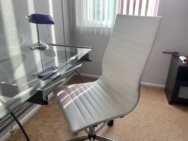 White leather desk/office chair