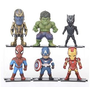 World Toys Action Figures Avengers Super Hero Set Cake Toppers Collectible Free Stickers for Sale in Riverside, CA