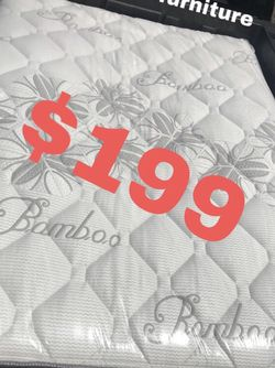 """BRAND NEW """"LUXURY EURO PILLOW TOP BAMBOO"""" MATTRESSES 💯 COLCHONES NUEVOS PILLOW TOP 💯( LIMITED TIME ONLY) 5 year factory warranty ! 💥12 inches t for Sale in Pico Rivera,  CA"""