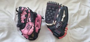 Rawlings & Franklin Girls Baseball and Fast Pitch Softball Gloves for Sale in Rancho Cucamonga, CA