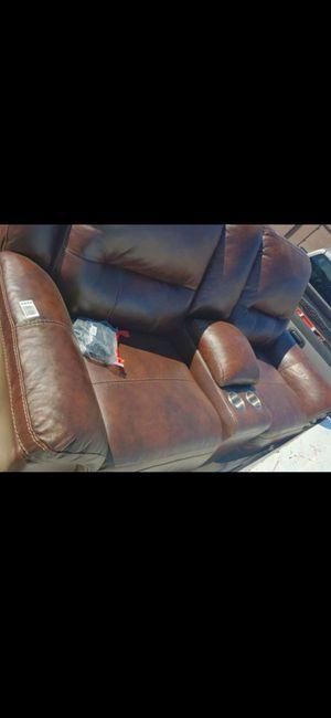 Power Recliner Leather Loveseat for Sale in Glendale, AZ