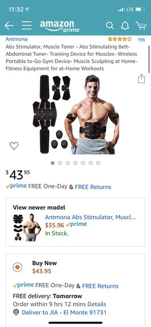 Abs Stimulator, Muscle Toner - Abs Stimulating Belt- Abdominal Toner- Training Device for Muscles- Wireless Portable to-Go Gym Device- Muscle Sculpti for Sale in South El Monte, CA