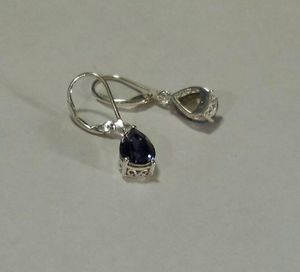 SWAROVSKI Purple Crystal Leverback Earrings in Sterling Silver for Sale in Lawrenceville, GA