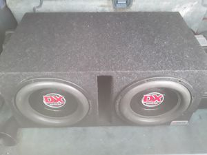 2) 12 inch American Bass Dx subs ported box for Sale in Maple Heights, OH