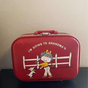 "Vintage Red ""I'm Going To Grandma's"" Suitcase For Kids for Sale in Seattle, WA"