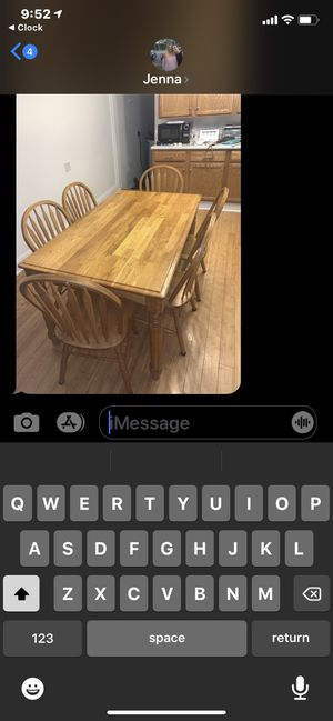 Free table chairs today only at curb for Sale in Westbrook, ME