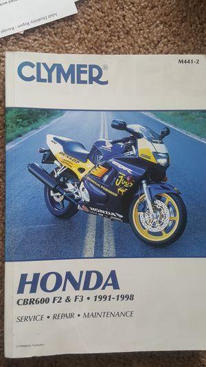 Honda CBR F2 F3 service manual for Sale in San Diego, CA