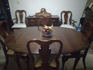 Table and 6 chairs and buffet for Sale in Framingham, MA