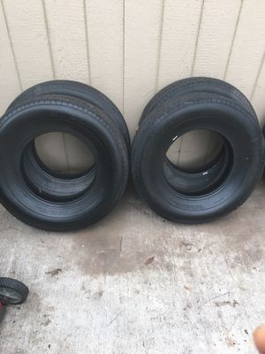 Trailer tire 235 80 r16 80 psi used one day almost new for Sale in Fort Worth, TX