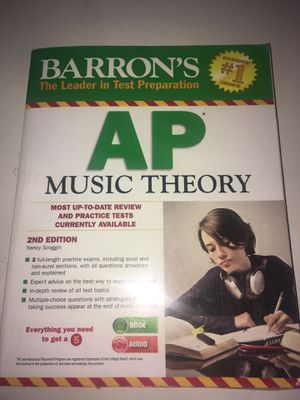 Barron's AP Music Theory Book for Sale in San Diego, CA