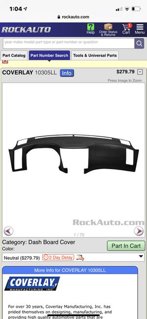 Infiniti FX 35 dash board cover (color Neutral) for Sale in Indian Land, SC