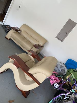 Global Furniture - Loveseat and Chair with matching TV stand for Sale in Lawrenceville, GA