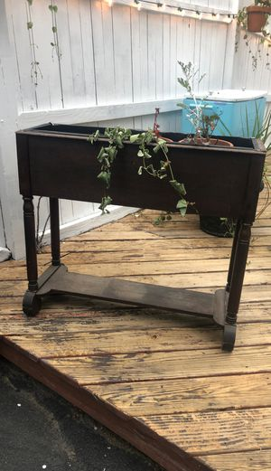 Wooden planter with bottom shelf for Sale in Boston, MA
