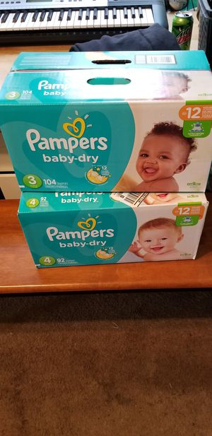 Size 3 Pampers in box brand new for Sale in Nashville, TN