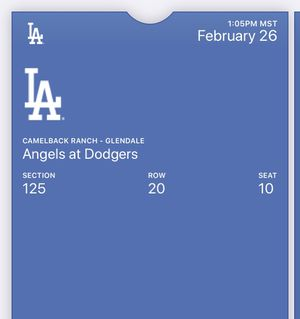 2 tickets Today's game Dodgers vs Angels 1:05pm for Sale in Phoenix, AZ