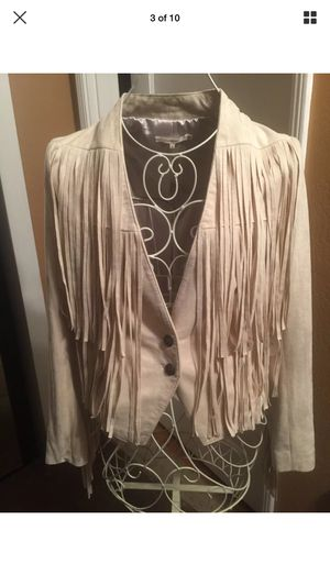 NWT Women's Tularosa faux suede fringe jacket size M retail $240 vegan for Sale in Richmond, CA