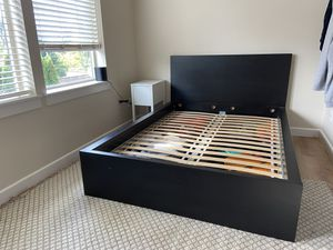 Full Size Bed Frame with Drawers, Support Slats, and Headboard for Sale in Seattle, WA
