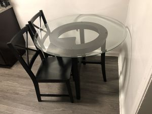 Glass Kitchen table with 2 chairs for Sale in NO BRENTWOOD, MD