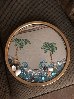 Custom Tropical Beach Mirror Decor for Sale in Doyline, LA