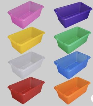 "Transparent Plastic Bins & Container Lid - 8ct (12""x8""x5"") for Sale in Corona, CA"