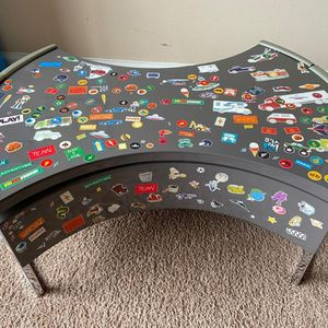 Rotatable Steel table with hidden storage for Sale in Morrisville, NC