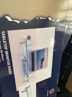 Glass computer monitor raisers for Sale in Richmond, VA