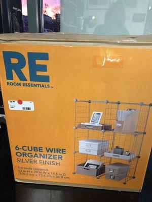 6-Cube Wire Organizer Silver Finish #7585-1 for Sale in Malden, MA