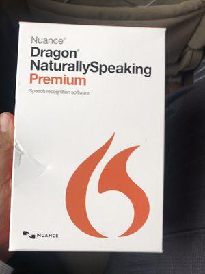 NEW Nuance Dragon NaturallySpeaking 13 Premium, For PC for Sale in Houston, TX