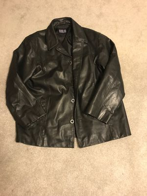 Men's large leather jacket - no rips or tears for Sale in Silver Spring, MD