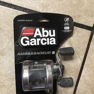 Abu Garcia Ambassadeur S AMBS-5500 Baitcast Fishing Reel, 5.1:1 Gear Ratio for Sale in Lodi, CA