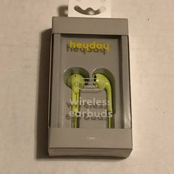 NEW Heyday lime green wireless earbuds bluetooth 5.0 for Sale in Albany,  OR