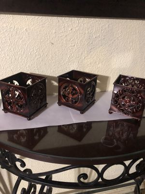 Home Interiors metal candles holders for Sale in Dallas, TX