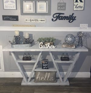 Gorgeous gray white washed entry table for Sale in Orlando, FL