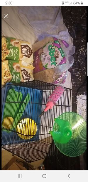 Starter hamster cage and supplies for Sale in Bel Air, MD