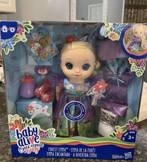 Baby Alive Once Upon a Baby: Forest Tales Forest Emma-Blonde Straight Hair NEW for Sale for sale  Jupiter, FL