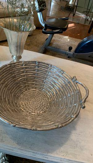 Beautiful Mariposa basket weave silver bowl for Sale in Franklin, TN