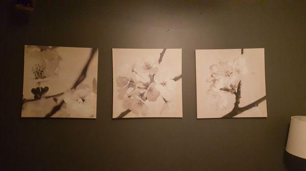 3 floral photo canvas prints