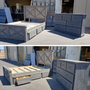 New Queen Size Bedroom Set, comes in any of our colors! for Sale in Lynwood, CA