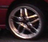 "Crome and black 20"" rims for Sale in Independence, MO"